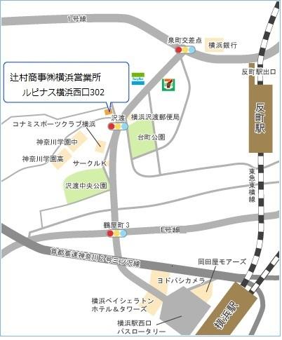 横浜営業所地図